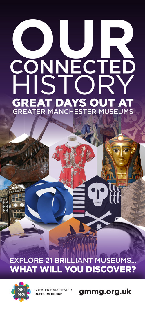• Greater Manchester Museums - primary group leaflet. A targeted marketing campaign distributed amongst the eight partner museums.