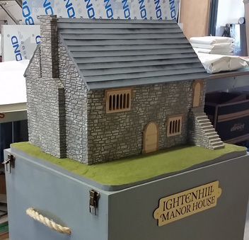 • Ightenhill Manor House Educational interactive model - An educational aid used in local schools, made from foam, wood and plastic.