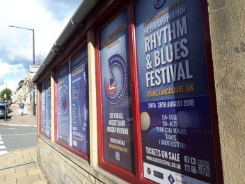 • Blues Festival bus shelter vinyl posters