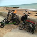 Bikes on holiday at Saltdean.